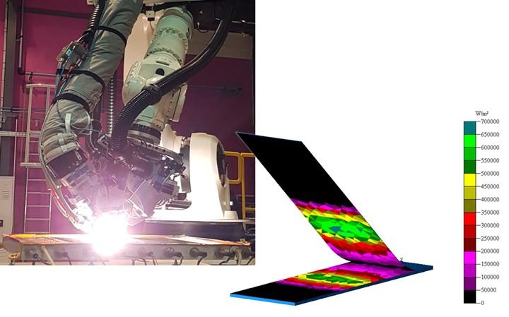 在Compositadour使用Humm3和光学建模进行AFP试验