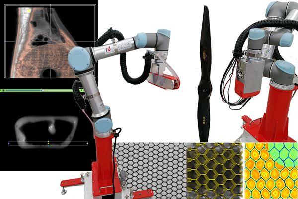 机器人计算机断层扫描-去除复合材料图像的NDT屏障