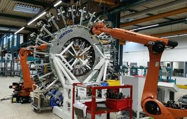 柯林斯航空航天复合材料工厂的Herzog braider