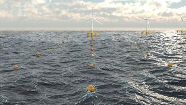 CorPower海洋复合浮标的波浪能场