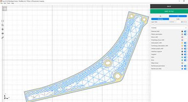 的印刷部分的设计在软件呈现。