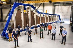 空客开始组装明天的第一个机翼原型