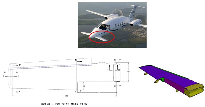 SWING project for general aviation composite wing box
