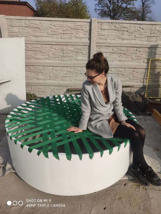outdoor furniture made with recycled composite wind turbine blade
