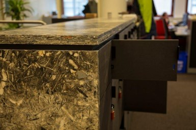 countertop made with recycled thermoset composites