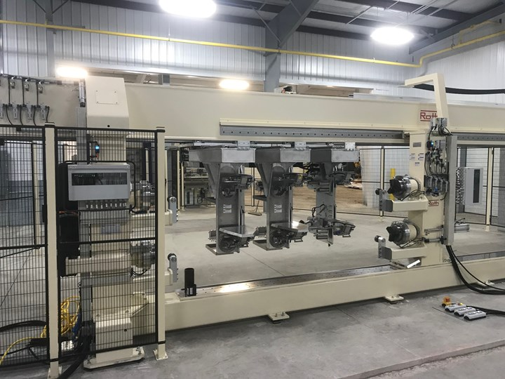 Roth automated filament winding system for composite driveshafts