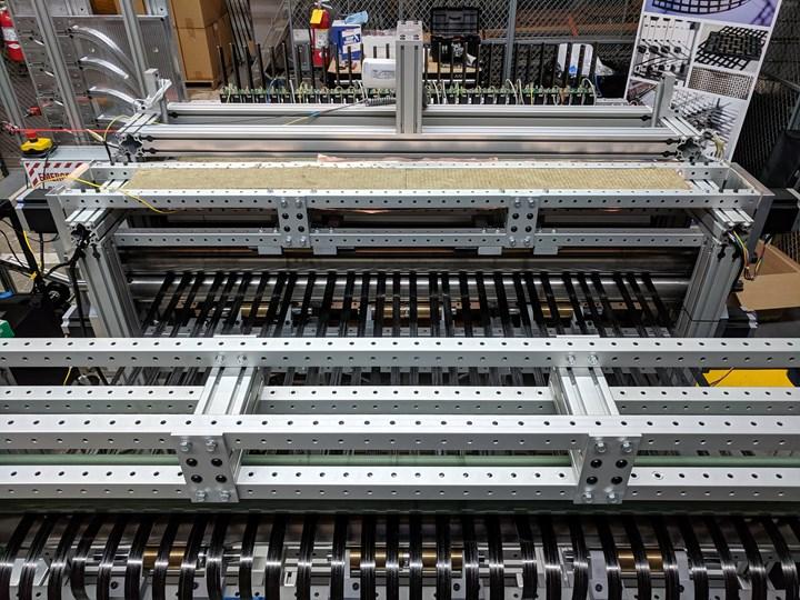 composite lattice forming machine WEAV3D