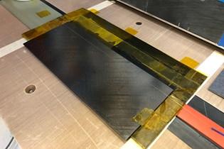fiber optic sensor on a composite board