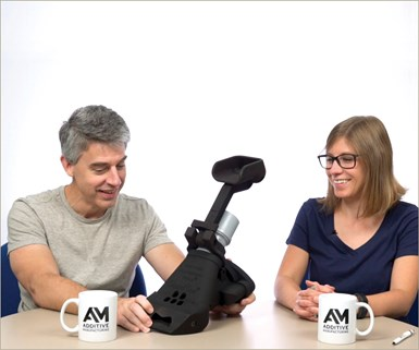 Pete Zelinski, Editor-in-Chief, Additive Manufacturing and Modern Machine Shop magazines and Stephanie Hendrixson, Senior Editor, Additive Manufacturing