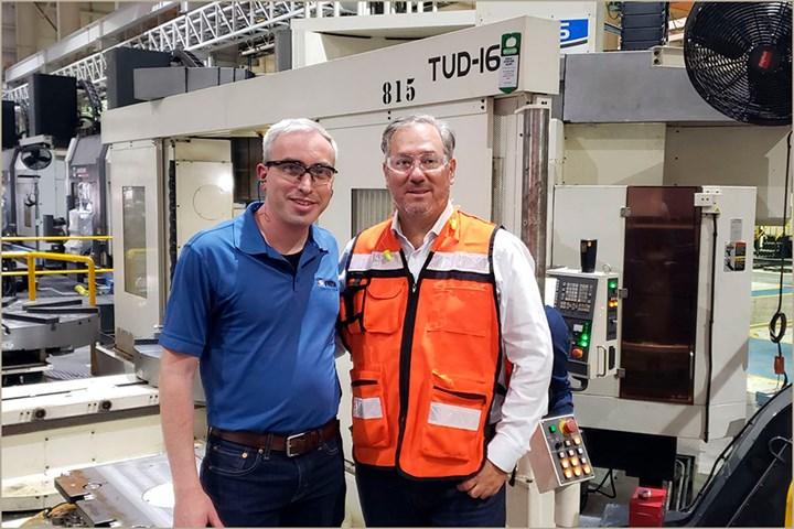 Eduardo Tovar, Editor-In-Chief, Modern Machine Shop Mexico, at Frisa Aeroapace, Monterrey, Mexico