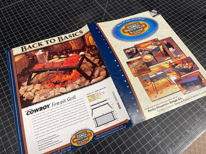 The front and back cover of theRocky Mountain Range Company's productbrochure.