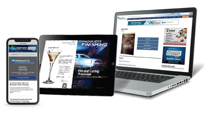 Laptop Displaying Digital Magazine Edition
