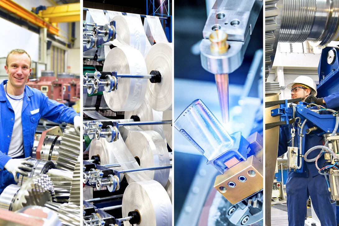 Manufacturing Industry Collage with Gardner Intelligence Logo