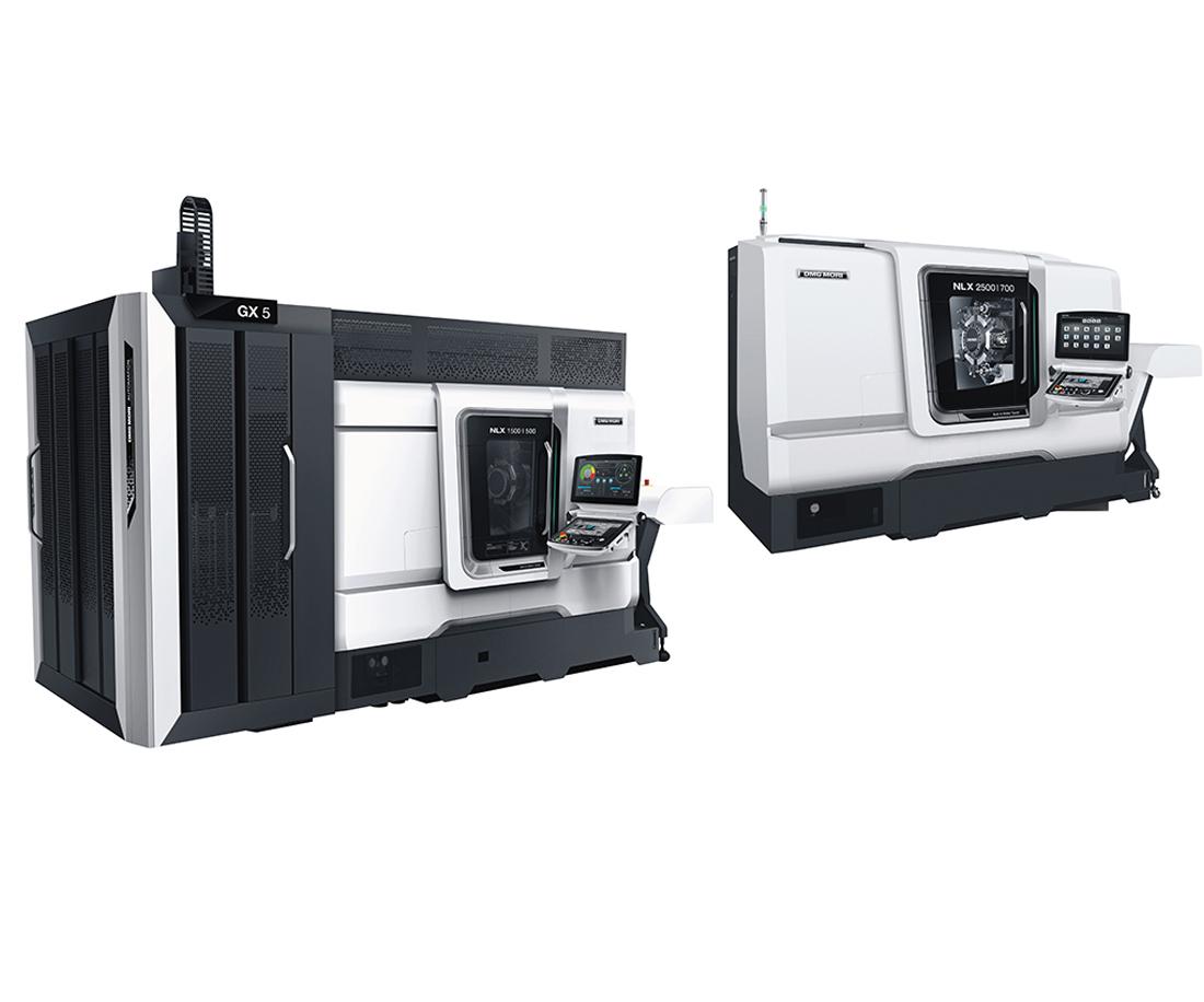 El centro de torneado NLX, de DMG MORI,es una máquina robusta y pesada. Latorreta se le mejoró el diseño y el centro de gravedad se cambiópara ofrecer una alta precisión de mecanizado.