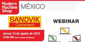 """El webinar""""Las Últimas Tendencias en Herramientas Rotativas Enterizas"""" se realizará el jueves15 de agosto de 2019 a las 10:00 a.m."""