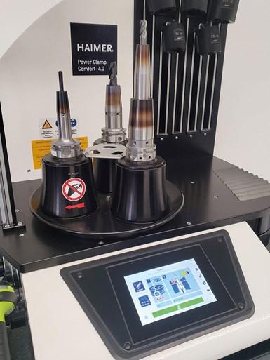 LaPower Clamp Comfort i 4.0 se complementa con otro producto nuevo de Haimer que se llama Collet Holders. También son shrink fit, una tecnología de sujeción térmica, pero para boquillas de precisión.
