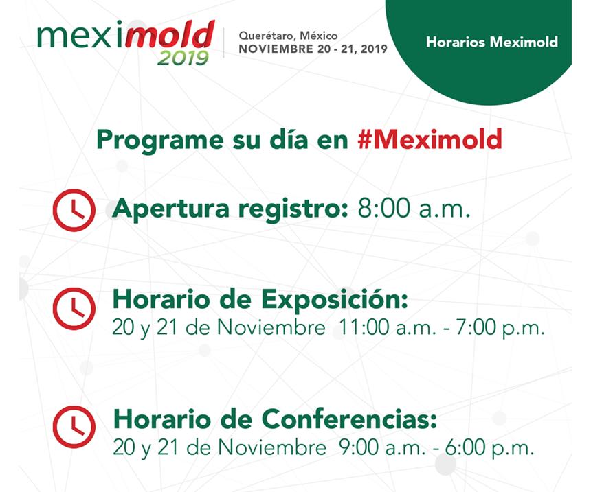 Horarios Meximold.