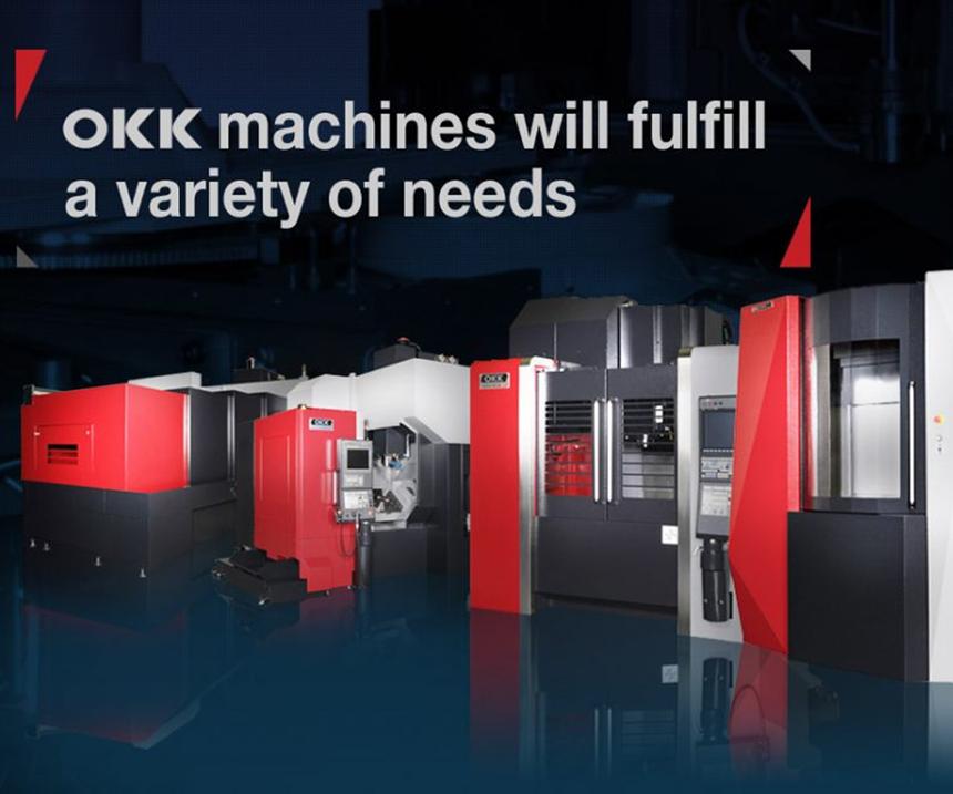 Las máquinas OKK tienen una construcción rígida y un diseño versátil, y ofrecen más de 60 modelos de máquinas horizontales, verticales y de 5 ejes.