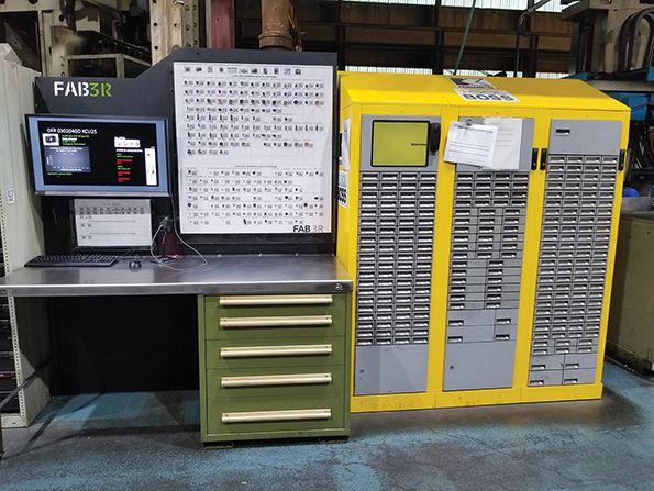 Esta es una vista de toda la estación de datos de herramientas de corte.