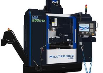 Centro de mecanizado vertical VM250IL-5x de cinco ejes, de Milltronics.