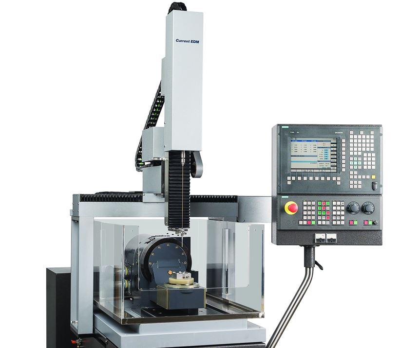 Máquina perforadora de agujeros CNC CT400, de Current EDM.