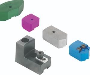 Sistema de mordazas de cambio rápido se adapta a varias dimensiones de bloqueo de las mordazas