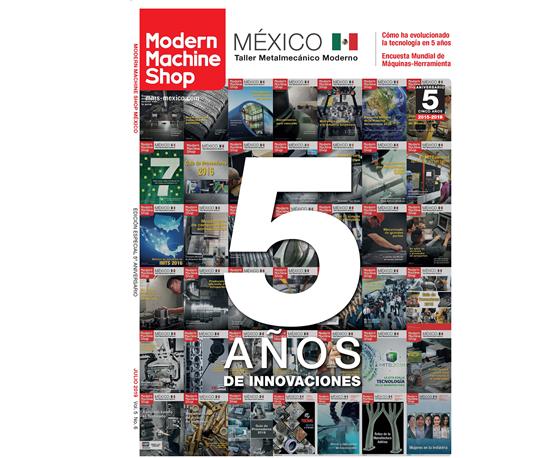 Portada edición aniversario Modern Machine Shop.