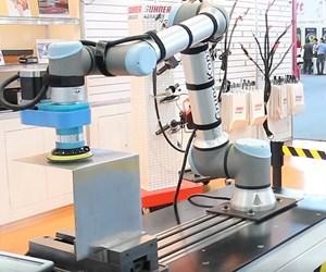 Línea de cabezales para aplicaciones de acabado superficial en robots.