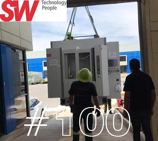 SW-Machinesestá llegando en México a la instalación de su máquina número cien.