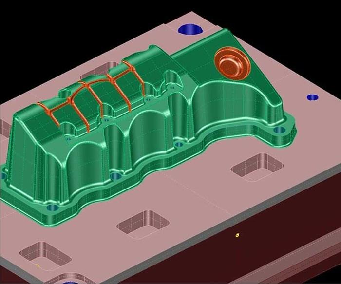 Las funciones especiales de fresado de alta gama, como el mecanizado de ranuras profundas, requieren curvas de guía que el programa NC crea con la ayuda de un asistente.