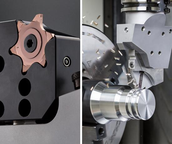 Este es el sistema de ranurado externo de 6 filos de corte útil con cartucho de Horn, utilizado en el proceso de mecanizado de las flechas de TREMEC.
