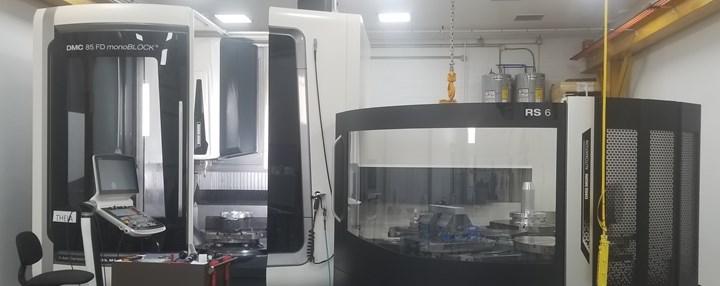 Theia, el DMC 85 FD Monoblock de DMG MORI, es la máquina más grande que tiene Peterson Machining.