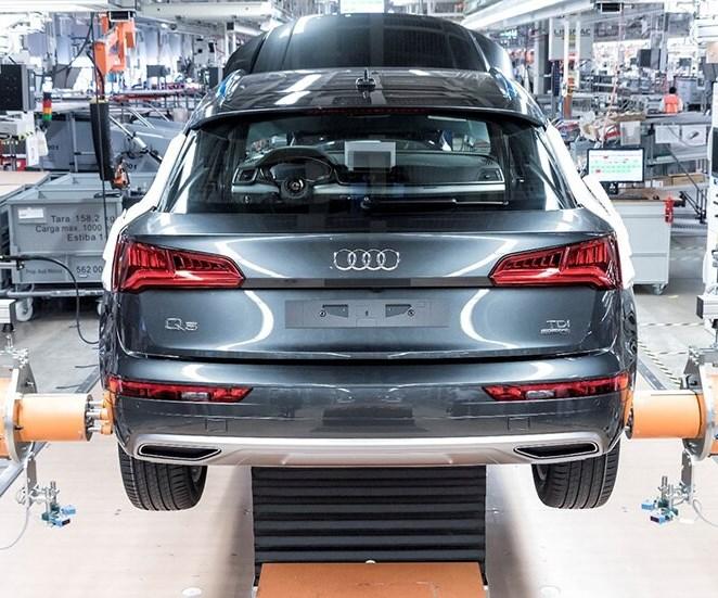Línea de montaje de Audi en México. Foto: Audi.