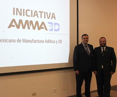 Alejandro Silva, Presidente de la AMMA3D, yOmar López, Director General de la AMMA3D.