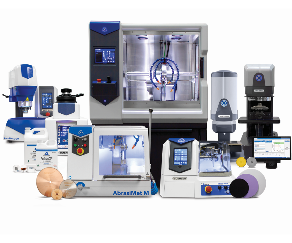 Buehleres un fabricante industrial global de consumibles de valor agregado, equipos de preparación de muestras de materiales y la línea Wilson de probadores de dureza.