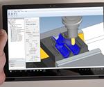 CAMWorks ShopFloorincluye una opción de simulación paso a paso para cada operación o el programa completo.
