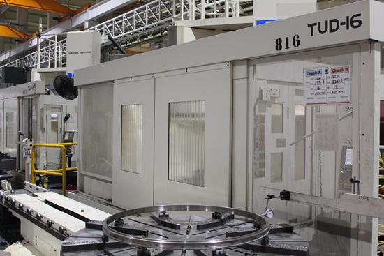 El modelo TUD 16 de Shibaura es una máquina de doble columna de mandrinado vertical y torno-fresado