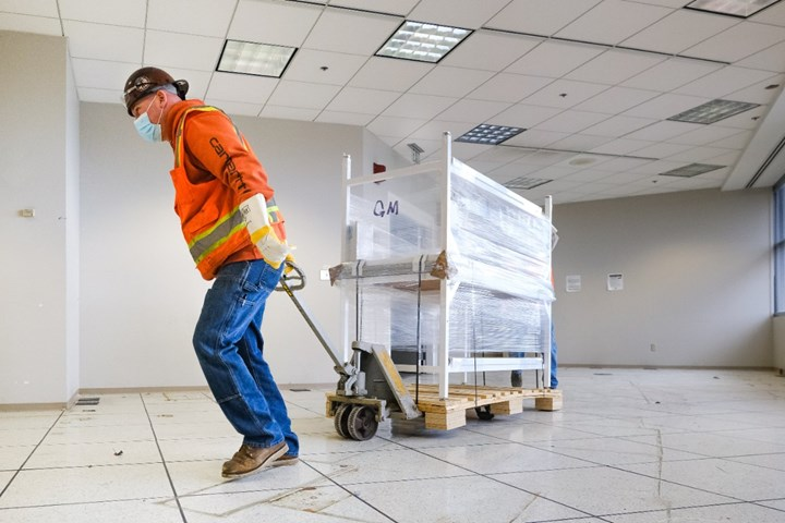 Ventec y GM están trabajando las 24 horas para satisfacer la necesidad urgente de más ventiladores. Foto: General Motors.