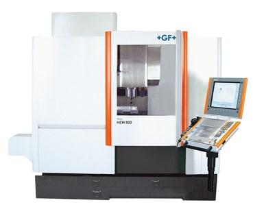 Centro de mecanizado vertical Mikron HEM 800, de GF Machining Solutions.GF Machining Solutions