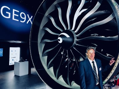 Ted Ingling, gerente del programa del GE9X en GE Aviation. Foro: GE Reports.