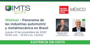 Webinar: panorama de las industrias automotriz y metalmecánica en Brasil