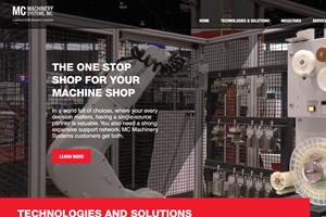 Nueva imagen del sitio web de MC Machinery.