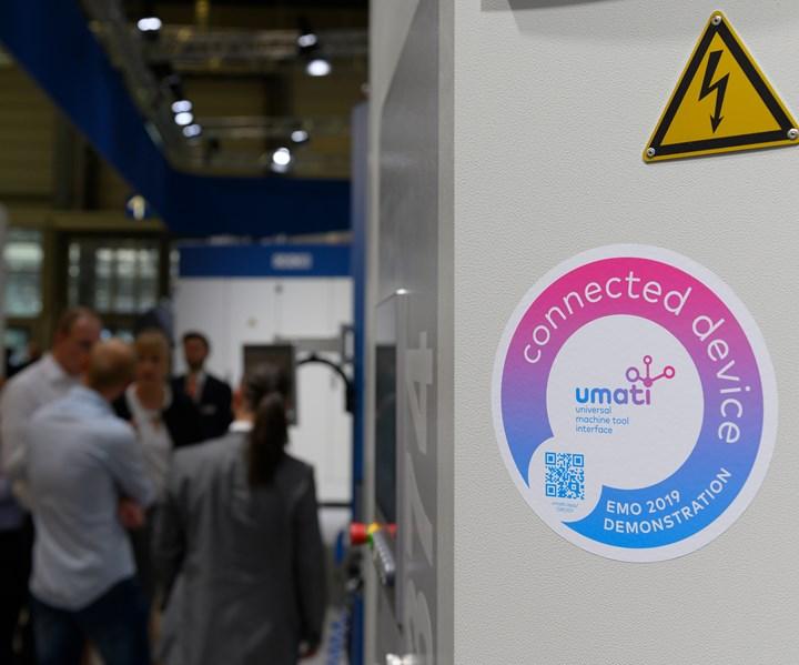 En la pasada EMO Hannover, 110 máquinas y 28 soluciones de software de 70 compañías estuvieron interconectadas a través de umati. Foto: EMO.