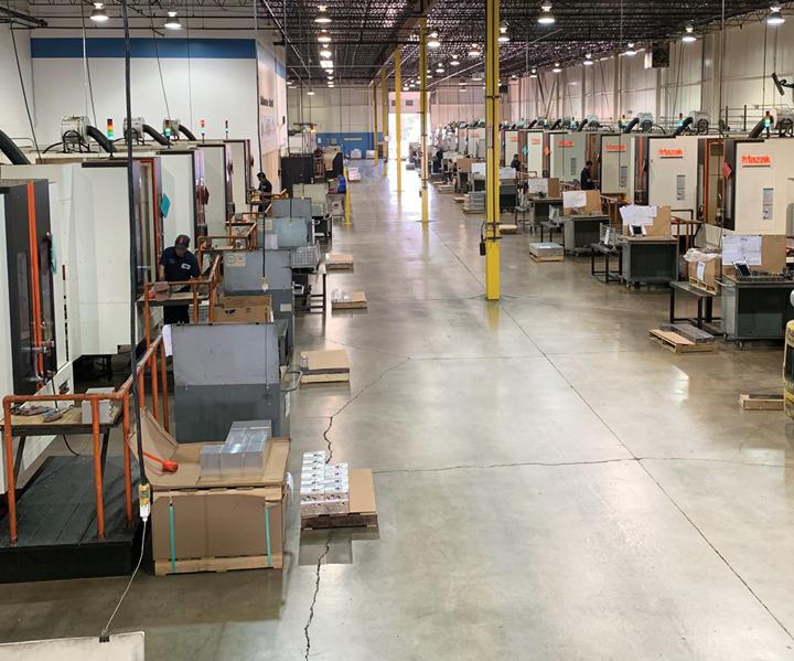 """sta es la """"Fábrica de Rendimiento"""" de Tomenson Machine Works, donde la mayoría de los trabajos de perforación se realizan para sus colectores."""