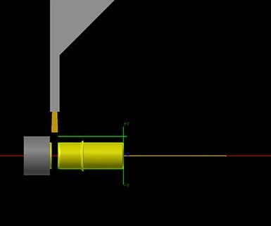 Operación a través de la función Verificar, de Mastercam.