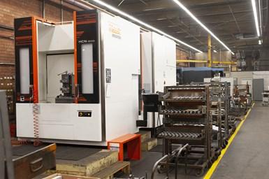 Las Mazak HCN-6000 son máquinas de trabajo pesado que brindan la potencia y versatilidad que Ketchie necesita para un mecanizado productivo y preciso de piezas grande.