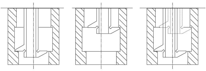 El tipo de medidor de profundidad de doble gancho que se muestra en la Figura 2 tiene un par de planos en el extremo de medición.