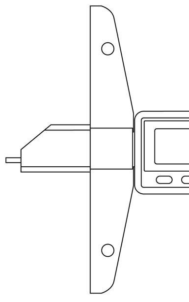 El medidor de profundidad más preciso es aquel en el que todo el vástago del medidor actúa como contacto sensible, como se ve en la Figura 3.