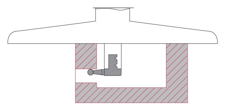 Hay zapatas que permiten medir ranuras y depresiones anchas, agujeros pequeños, mediciones de separación fuera del centro del orificio