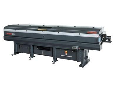 Alimentador de barras hidrodinámico Tracer 65V / 80V de gran capacidad, de CNC Indexing & Feeding Technologies.